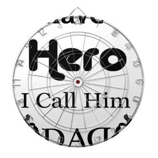 I Have a Hero I Call Him Dad Dart Boards