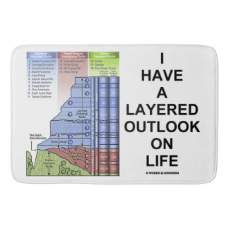 I Have A Layered Outlook On Life Grand Canyon Bath Mat