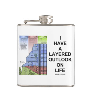 I Have A Layered Outlook On Life Grand Canyon Hip Flask