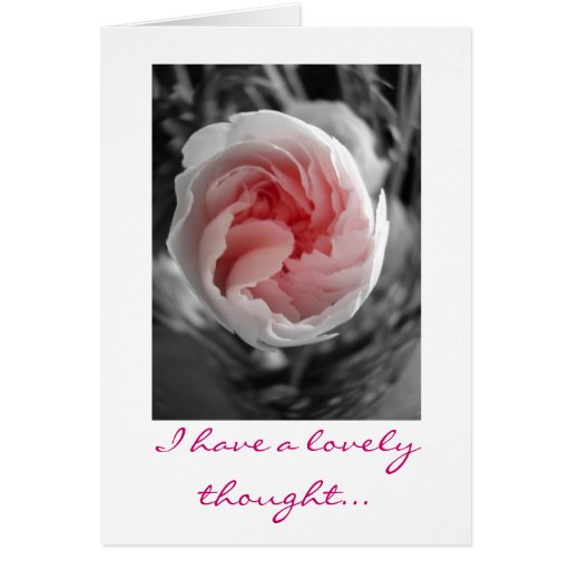 I have a lovely thought... card
