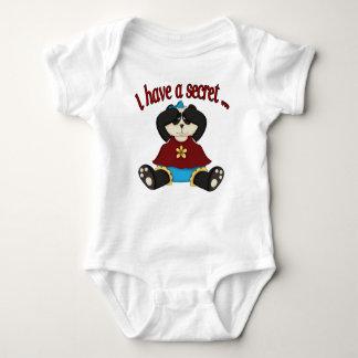 I have a secret big sister panda baby bodysuit