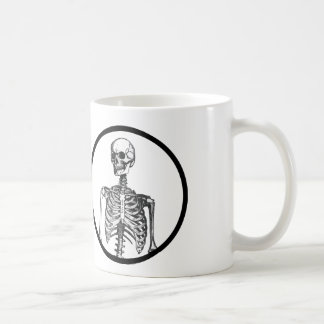 """I have an actual human skeleton in my office"" Basic White Mug"