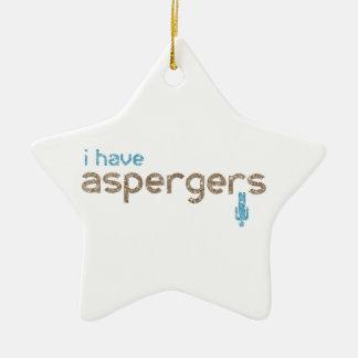 I have aspergers man ceramic ornament