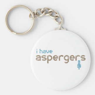 I have aspergers man key ring