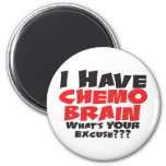 I Have Chemo Brain 6 Cm Round Magnet