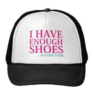I Have Enough Shoes Cap