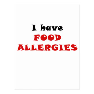 I Have Food Allergies Post Cards