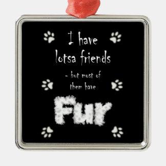 I Have Lotsa Friends Pet Lovers Ornament