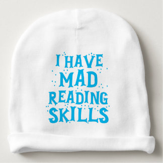 i have mad reading skills baby beanie