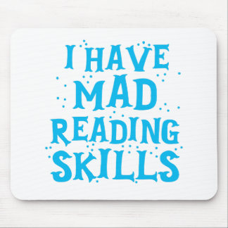 i have mad reading skills mouse pad