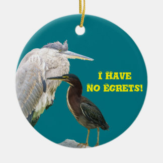 I Have No Egrets! Ceramic Ornament