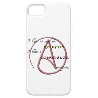 I Have No Need for Religion with Atheist Symbol Case For The iPhone 5