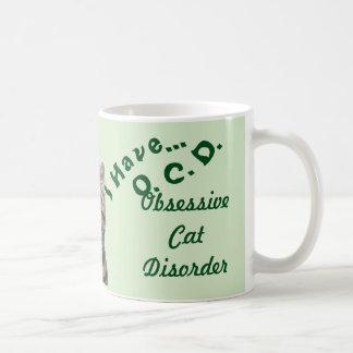 I Have O. C. D. Obsessive Cat Dissorder Green Coffee Mug