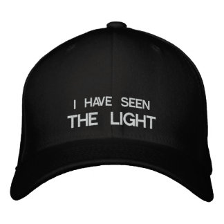 I HAVE SEEN THE LIGHT EMBROIDERED HATS