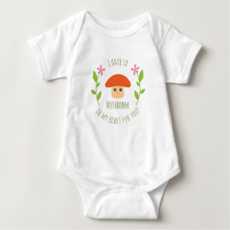 I Have So Mushroom In My Heart For You Pun Unisex Baby Bodysuit