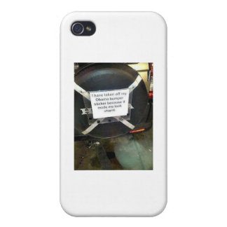 I Have Taken My Barack Obama bumper sticker off iPhone 4 Case