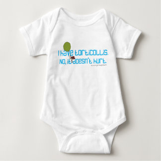 I have Torticollis. No, It Doesn't Hurt. Baby Bodysuit