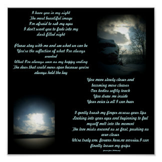 I have you in my sight...Poem/Lyrics Poster