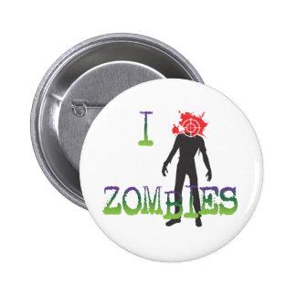 I Headshot Zombies 6 Cm Round Badge