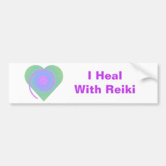 I Heal With Reiki Bumper Sticker