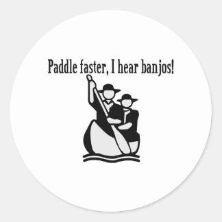 I Hear Banjos Classic Round Sticker
