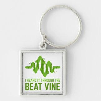 I Heard It Through The Beat Vine Key Ring