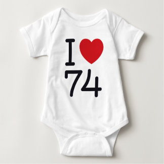 I (heart) 74 baby bodysuit