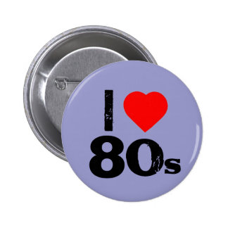 I heart 80 s Pinback Button