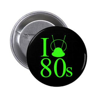I Heart 80s 6 Cm Round Badge