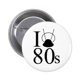 I Heart 80s 2 Inch Round Button