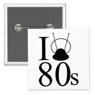 I Heart 80s 2 Inch Square Button