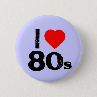 """I heart 80's"" Pinback Button"