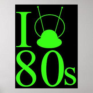 I Heart 80s Retro Poster