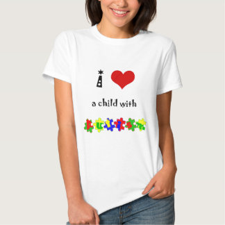 I Heart a Child with Autism Tshirt