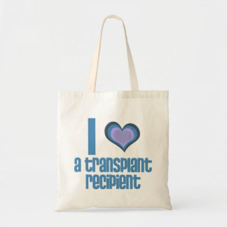 I *heart* a transplant recipient tote bag
