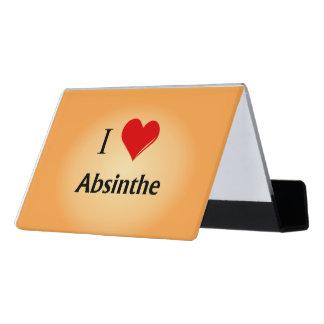 I Heart Absinthe Desk Business Card Holder