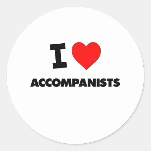 I Heart Accompanists Round Stickers