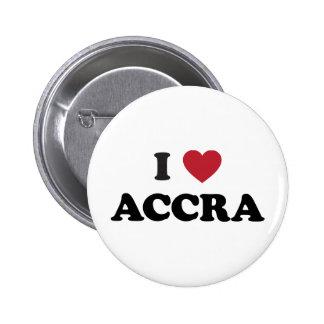 I Heart Accra Ghana 6 Cm Round Badge
