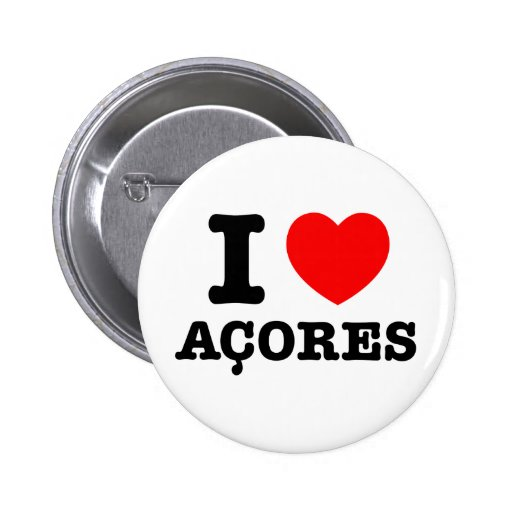 I heart Acores Pinback Button