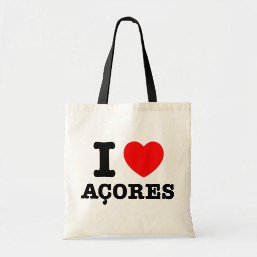 I heart Acores Canvas Bags