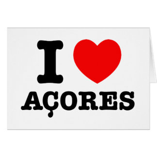 I heart Acores Greeting Card