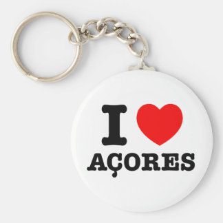 I heart Acores Key Chains
