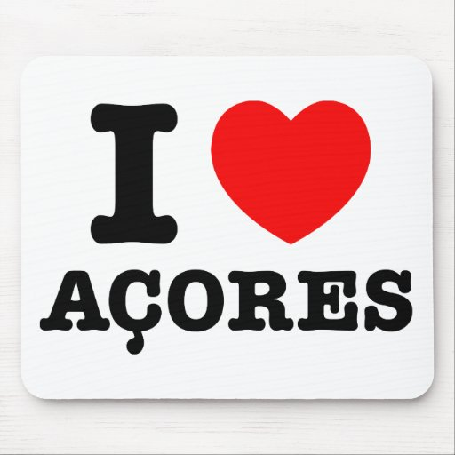 I heart Acores Mouse Pads