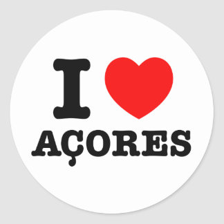 I heart Acores Stickers