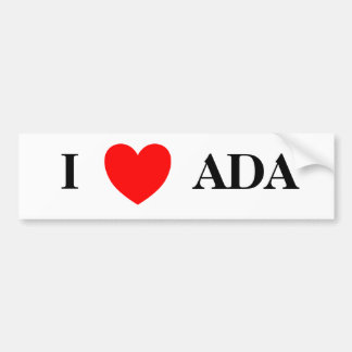 I Heart Ada Bumper Sticker