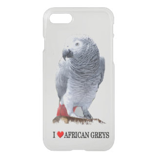 I Heart African Greys iPhone 7 Case