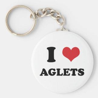 I (heart) Aglets Keychain