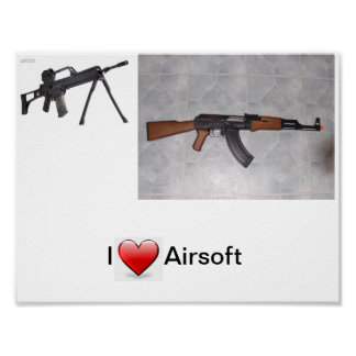 I Heart Airsoft Poster