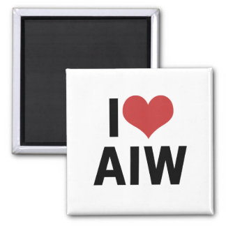 I Heart AIW Magnet-Square Square Magnet