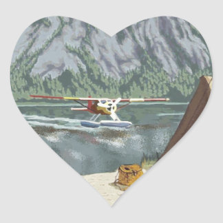 I Heart Alaska Heart Sticker